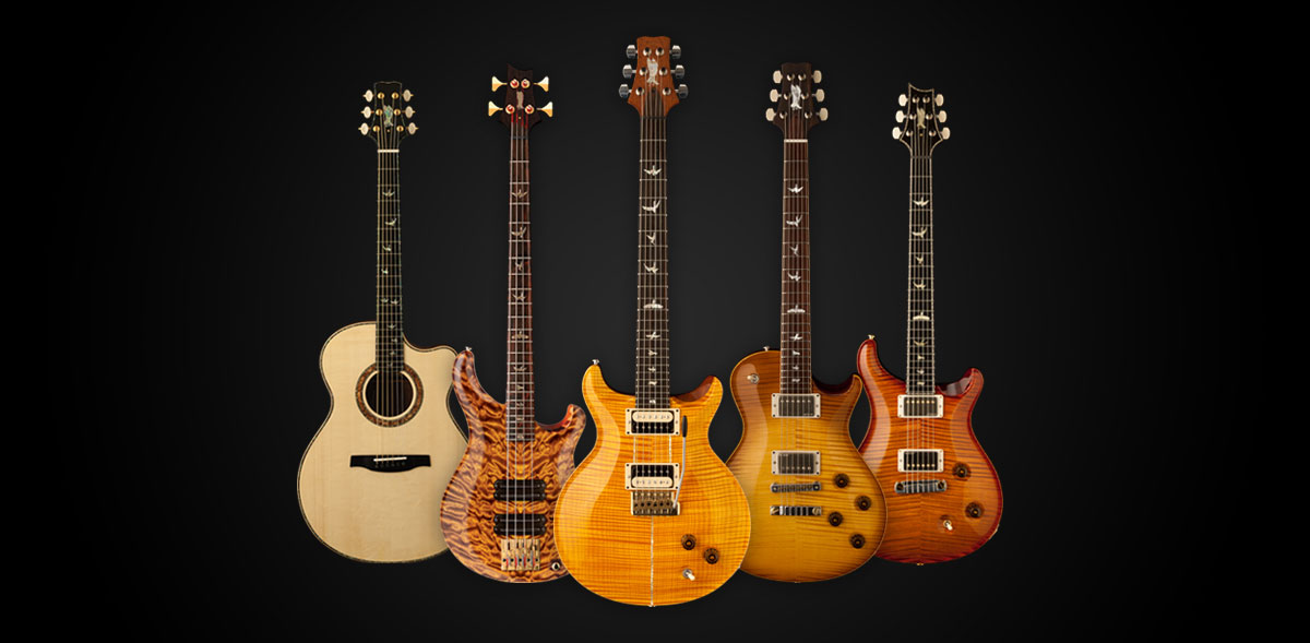 Collection of Paul Reed Smith guitars